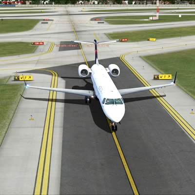 Airport products, markers - plane landing